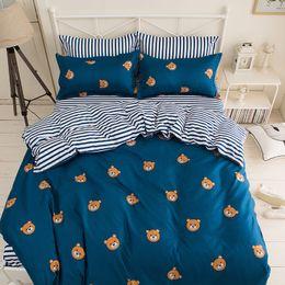 Lits simples en Ligne-Ensemble de literie Adulte Enfants Linge de lit doux Single Full Queen King Size Couette Couette Housse de couette Draps24