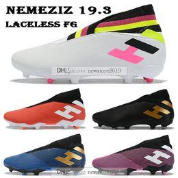 2019 New Product Adidas Futsal Shoes Knitting High Neck Turf FootballSoccer Shoes Futsal Boots Size:34 44