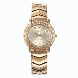 2019 cintos de ouro rhinestone Ladies 'relógio de luxo de moda cinto de aço de ouro à prova d' água strass vestido relógios pulseira relógio de quartzo cintos de ouro rhinestone barato