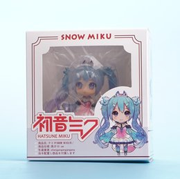 boneca vocaloid miku hatsune Desconto Hatsune Miku Anime Vocaloid Figma Nendoroid Boneca Chinesa Anime Action Figure PVC Coleção Modelo Brinquedos 10 cm