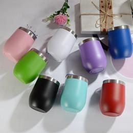 10 Unzen Edelstahl Becher mit Deckel Biergläser stammlosen Tassen tragbare isolierte Wasserflaschen Multicolors Kolben Großhandel CupsA02 von Fabrikanten