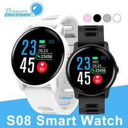 banda intelligente di garmin Sconti S08 per apple Smart Watch Ip68 Impermeabile cardiofrequenzimetro smartwatch Bluetooth Smartwatch Activity Fitness tracker Band