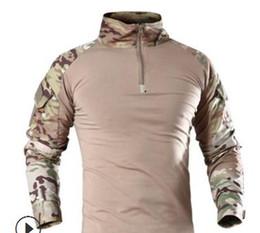 camouflage airsoft kleidung Rabatt ReFire Gear Männer Militärische Taktische T-shirt Langarm SWAT Soldaten Kampf T-shirt Airsoft Kleidung Man's Camouflage Army Shirts S917