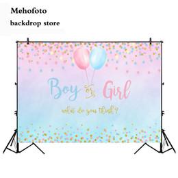 fond de bannière Promotion Mehofoto Sexe Garçon ou Fille Fête Décoration Bannière Photo Fond Glitter Design Photographie Toile de fond Ballon Toile de fond 303