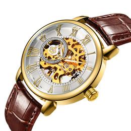 5210840394b MG.ORKINA MG Homens Relógios Top Marca de Luxo Esqueleto de Ouro Relógios  Banda De Couro Mão Mecânica Vento Assista Relógio Mecânico Homens