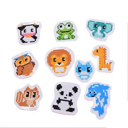 diamond sticker painting Promo Codes - 10pcs DIY Animals Patterns Painting Diamond Embroidery Kit Double Face Sticker Handmade Home Decor For Children Kids