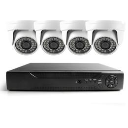 Sistema dvr della telecamera dome online-HDMI 4CH Full AHDL D1 H.264 DVR Kit Nightvision Security 480TVL Dome Camera Sistema di videosorveglianza Sistema di telecamere CCTV