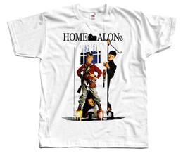 Evde Yalnız V4, afiş, 1990, Noel T-SHIRT DTG (BEYAZ) S-5XL Baskı T-Shirt Erkekler nereden
