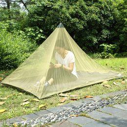 Geformte zelte online-2 Farben 2,2 * 1,2 mt Single Layer Moskitonetz Zelte Outdoor Camping Tragbare Mesh Zelt Pyramidenform Zelte Gartendekorationen CCA11515 10 stücke