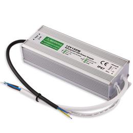 2019 12 вольт постоянного тока Уличный светодиодный трансформатор 150 Вт Светодиодный драйвер для 12/24 Вольт постоянного тока IP67 Водонепроницаемый светодиодный источник питания 100 В-250 В / 12,5 А для наружного освещения дешево 12 вольт постоянного тока