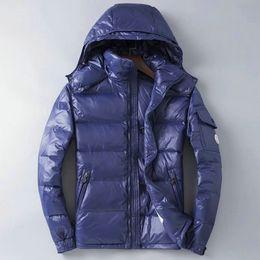 Mens parkas oca online-2019 New Canada Mens Fashion Piumino Cappotti Caldo Feather Giacca invernale Outwear Casual Goose Parka Cardigan Cerniera Plus Size M-2XL
