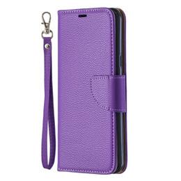 estojos de telefone para lg stylo Desconto Flip tampa do suporte carteira para lg stylo 5 case pure cor lichee padrão pu leather mobile phone cases para lg k40 / k50 / q60