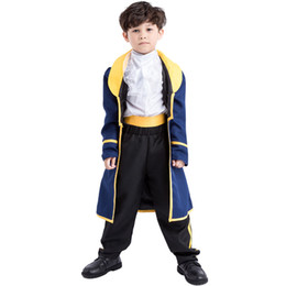 kids party books Promo Codes - Kids Boys Costume Child Book Week Children's Day School Party Prince Cosplay Fancy Dress