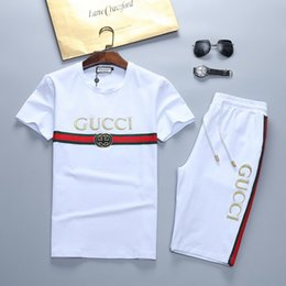 bd79b6054 2018 Tiger sports suit new Tiger embroidery high-end brand sports and  leisure sports suit fashion short-sleeved men's sportswear men's sport