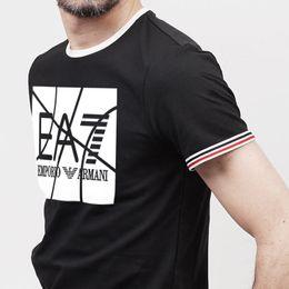 2019 polo ricamato 2018 Polo a righe di marca ricamata T-shirt in cotone a manica corta da uomo in cotone solido a manica corta sconti polo ricamato