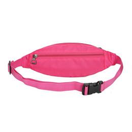 Pequeño paquete de cintura impermeable online-Deportes al aire libre Cintura portátil Multicolor Bolsa pequeña Nylon impermeable Ejecución de Unisex Pack con diseño de orificio para auriculares