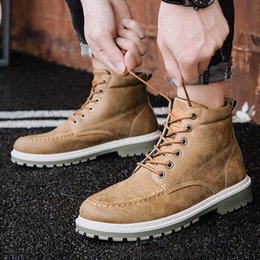 Ankle Männer Schuhe Einzel Herbst Winter 2019 Junge Männlich Street Stiefel Herren Shujin Fashion Früher Kühlen OP8n0wk