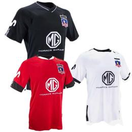 2020 uniformes de futbol negro 2020 Uniforme Colo-Colo camiseta de fútbol Chile club blanco Negro de fútbol Colo Colo casa Fuera Camiseta de manga corta de fútbol rebajas uniformes de futbol negro