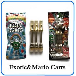 Chegada nova qualidade superior cartuchos de cartuchos exóticas Mario não vazar Ac1003 ouro 1.0ml bobina de cerâmica 62 sabores para a opção 0266228 de Fornecedores de bateria net