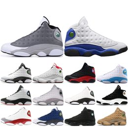 premium selection 76f19 12937 Neue 13 13s Basketballschuhe Herren Atmosphäre Grey Flints Höhe Hyper Royal  Er bekam Spiel XIII Männer Designer Sneakers Sportschuhe auf verkauf