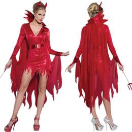 Schal für rotes kleid online-Gothic Rotkäppchen Nachtclub Königin Kostüm Verband Cosplay Kostüm Bühne Minikleid Halloween Holiday Party Spitze Schal