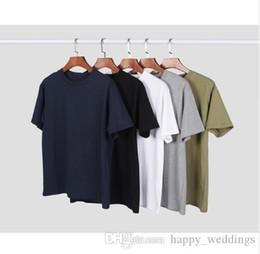 2019 material de camiseta de algodão Nice Preto Ícone Verão Mulheres Homens Básicos T Shirt Hiphop Streetwear Homens Material de Proteção Ambiental de Algodão T Camisas Xxxl desconto material de camiseta de algodão