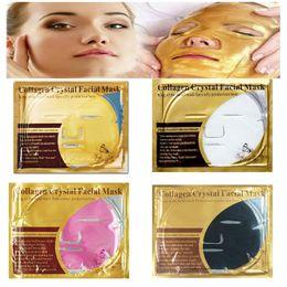 La pelle della farfalla online-Farfalla Maschera per il viso al collagene oro 24K Maschere per il viso in oro cristallo Idratante Cura della pelle del viso Cosmenics da donna
