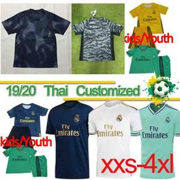 Camisetas de fútbol de bala online-Tailandia 19 jerseys del fútbol de Real Madrid 20 PELIGRO 2019 2020 niños camiseta RM JOVIC Bale JOVIC RODRYGO VINICIUS JR.SERGIO RAMOS Fútbol