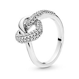 2019 anello di nodo d'argento sterling 2019 Spring New 925 Sterling Silver annodato cuore Pan Ring per le donne Fine compleanno gioielli fai da te festa della mamma regalo sconti anello di nodo d'argento sterling