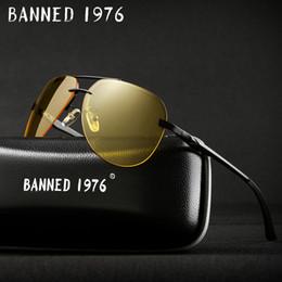 13e5e8b0a0 Aluminio magnesio 2018 para hombre gafas de sol de visión nocturna  polarizadas para hombres diseñador de la marca lente amarilla mujeres  visión nocturna ...