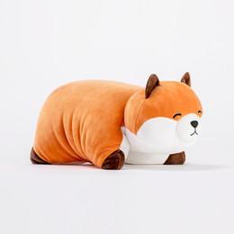 Fox multi-purpose travesseiro dobrável boneca de brinquedo de pelúcia personalizado boneca de presente de aniversário bonito criança de