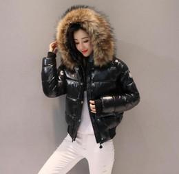 2020 manteau en coton 2020 Les femmes épaississent le coton Eiderdown Doudounes femme manches longues gros manteau d'hiver rempli de col de fourrure Parka Manteaux Taille Plus S-2XL promotion manteau en coton