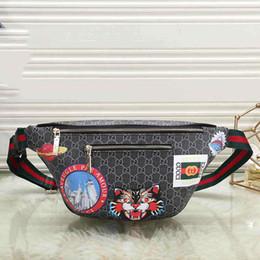 Donna torace caldo online-Borsa da uomo di design borsa unisex di lusso con tigre Borsa stampa di Fannypack Deisgner borsa da donna con caldo fashoin # 0608