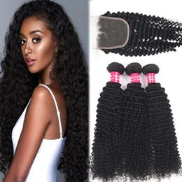 9A Remy Brezilyalı Sapıkça Kıvırcık İnsan Saç Örgüleri 3 Demetleri ile 4X4 Dantel Kapatma Kıvırcık Derin Dalga Gevşek Derin Vücut Düz Saç Kapatma Ile supplier curly remy human hair weaves nereden kıvırcık remisyon insan saçı örgüleri tedarikçiler