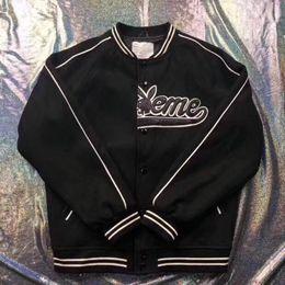 2020 baseballjacke s logo 18FW Box Logo Playboy Varsity Jacke Luxus Winddichtes Outdoor-Baseball-Jacke Herbst-Winter-Mantel Fashion Street Hip Hop Oberbekleidung HFYMJK156 rabatt baseballjacke s logo