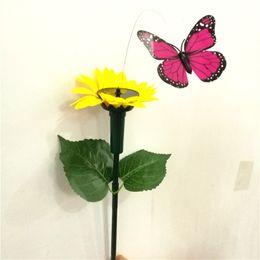 ornamento colore casuale 6 pz a energia solare//batteria volante oscillante farfalla e colibr/ì volante per giardino patio cortile piante paesaggio fiori