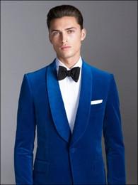pajarita azul real Rebajas Vestido de novia New Ocean Blue Royal para hombre, nuevo vestido de novia Langeur Best Suit (Jacket + Pants + Bow Tie)
