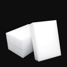 limpiadores de esponja Rebajas Borrador de melamina de esponja blanca de limpieza mágica para teclado Cocina de coche Herramientas de limpieza de baño