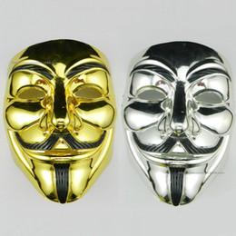 2019 letzte fantasieschuhe PVC Halloween V Wort Galvanik Unisex Maske Cosplay Kostüm Filmstars Party Bühne Maske