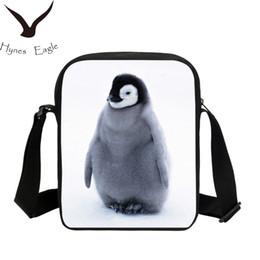 imagem moda criança Desconto Moda Pinguim Imagem 3D Impressão Sacos De Escola Ocasionais Estudantes Bolsa Crianças Escola Bookbag Bolsa de Ombro Pequeno Crossbody