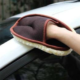 pennello d'onda all'ingrosso Sconti Styling Car 15 * 24cm Automotive Cleaning Brush Cleaner Car morbida lana lavaggio auto Guanti spazzola di pulizia del motociclo Rondella di cura