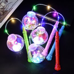 bobo cartoon Promo Codes - Bobo Ball Flash Light Handle Christmas Elves Ball Creative LED Light Colorful Cartoon Lanterns Halloween Child Toy