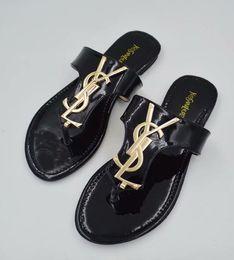 euro sandalen Rabatt Damen Designer Oran Leder Sandalen Mule Mädchen Street Fashion offene Zehe flache Hausschuhe Flip-Flops Größe Euro 35-42
