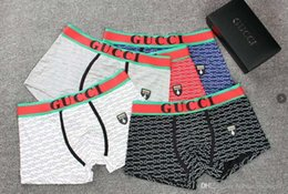 G diseño de letras online-Venta caliente Hombres G Ropa Interior Boxers Algodón Transpirable Carta Calzoncillos Pantalones Cortos Diseño de Marca de Lujo Cuecas Cintura Tight