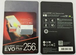 Доставка DHL 16 ГБ / 32 ГБ / 64 ГБ / 128 ГБ / 256 ГБ Оригинал EVO + Plus Micro SD-карта U3 / Смартфон TF карта C10 / Планшетный ПК SDXC Карта памяти 95 МБ от Поставщики руль для мотоцикла