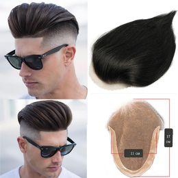 цвет волос для азиат Скидка Профессиональный парик человеческих волос полный кружевной топ закрытия 11 * 17 см прямые волосы парик для человека 100% девственные человеческие волосы черный цвет окрашиваемый