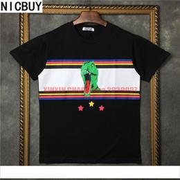 Étoiles chemises hip hop en Ligne-2017 été marée marque europe tag vêtements hommes bande 3D dinosaure étoiles imprimer t-shirt femmes t shirt saint tee tops tshirt hip hop