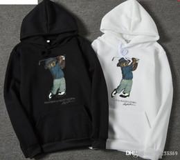Produtos variados on-line-Novos produtos levam tendência de moda outono e inverno modelos de explosão de roupas masculinas variedade de caxemira com capuz padrão de urso azul suéter que