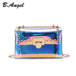 319b324248b20 zusammengesetzte s Rabatt Damenmode Wasserdichte Transparente Neon Laser  Kette Platz Taschen Schulter Messenger Handtasche Verbund Tasche