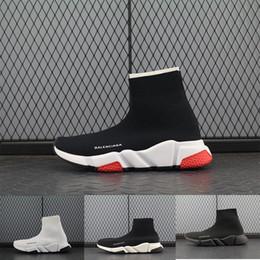 mulheres famosas Desconto Homens livres mulheres INS balanciaga meia sapatos Paris famosos sapatos com textura branca único designer Sock Shoes tamanho 36-45